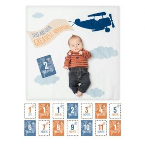 Our grestest adventure milestone blanket