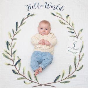 Hello world baby blanket